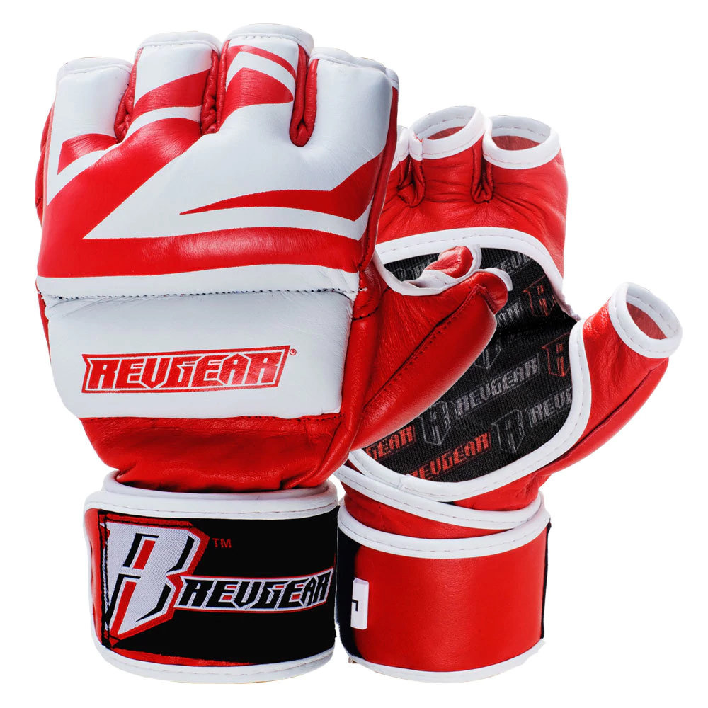 Leather MMA Gloves Deluxe Training Gear