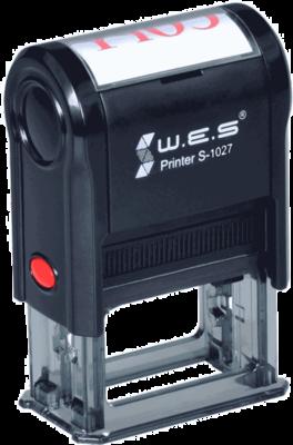 Штамп автоматический W.E.S. S-1027  27х10 мм