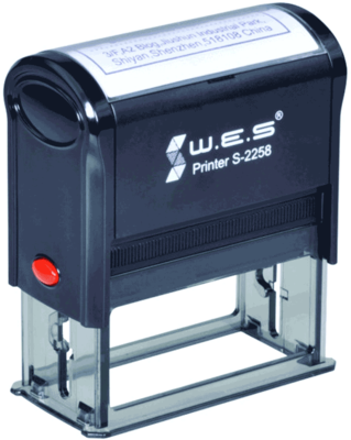 Штамп автоматический W.E.S. S-2258 58x22 мм