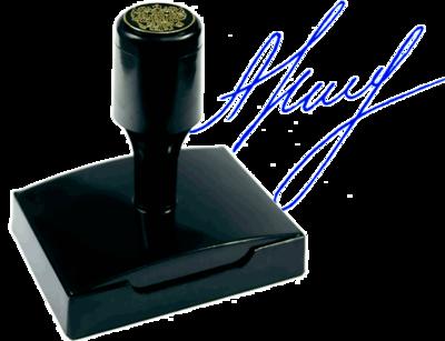 Факсимиле флэш (красконаполненное) ВР6621-КН, 66х21 мм