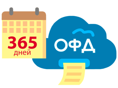 Код активации ОФД на 1 год