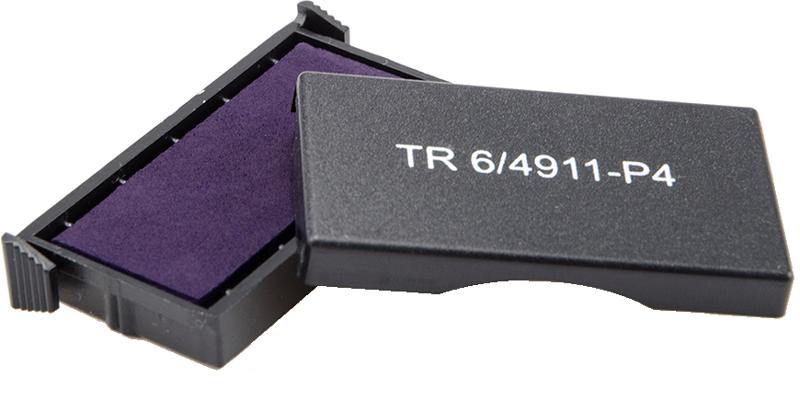Сменная штемпельная подушка для штампа Trodat 4911_P4 38х14 мм 00050