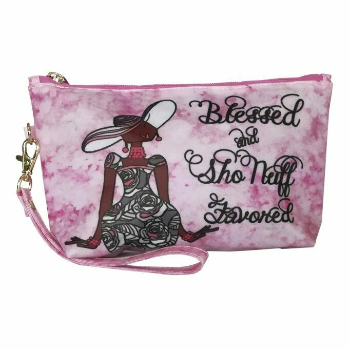 Cosmetic Pouch (Blessed and Sho'nuff Favored)