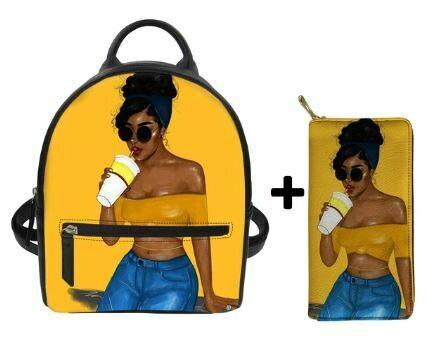 Fashion BlackPack & Wallet  (Design 7)