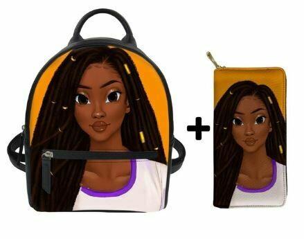 Fashion BlackPack & Wallet  (Design 4)