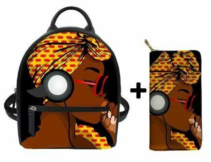 Fashion BlackPack & Wallet  (Design 16)