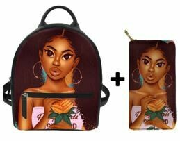 Fashion BlackPack & Wallet  (Design 39)