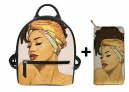 Fashion BlackPack & Wallet  (Design 42)