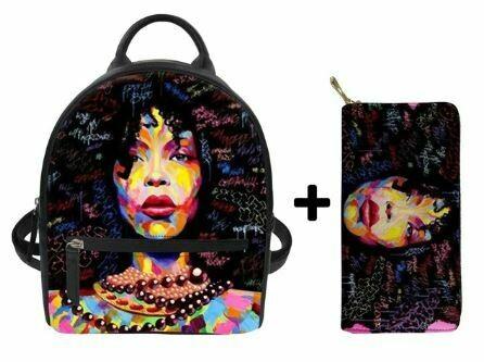 Fashion BlackPack & Wallet  (Design 13)