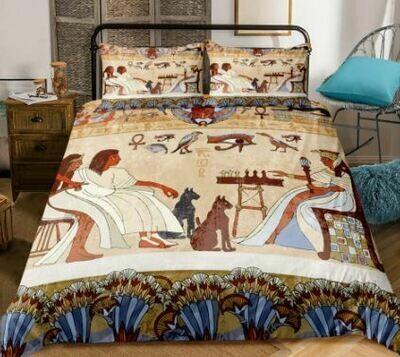 Egyptian Duvet Cover Set (Design 1)