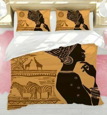 Afrocentric Duvet Cover Set (Design 4)