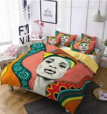 Afrocentric Duvet Cover Set (Design 20)