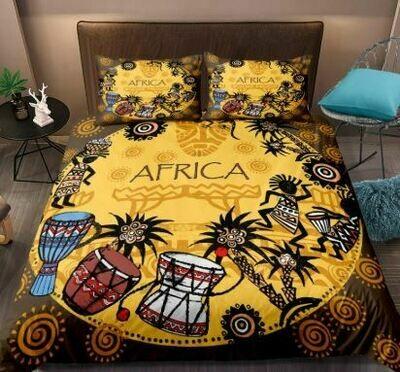 Afrocentric Duvet Cover Set (Design 24)