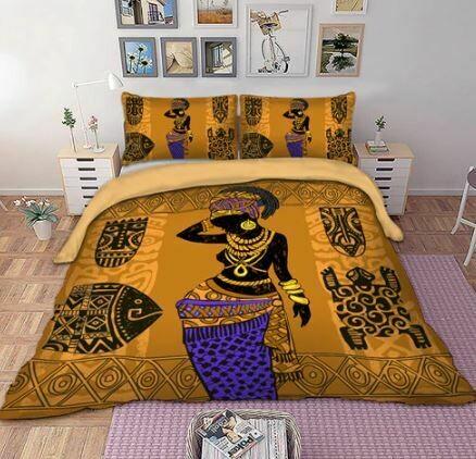 Afrocentric Duvet Cover Set (Design 26)