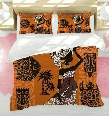 Afrocentric Duvet Cover Set (Design 5)