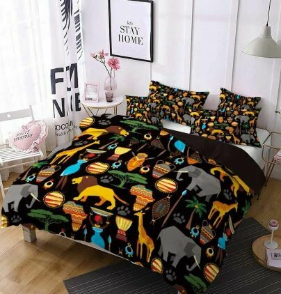 Afrocentric Duvet Cover Set (Design 13)