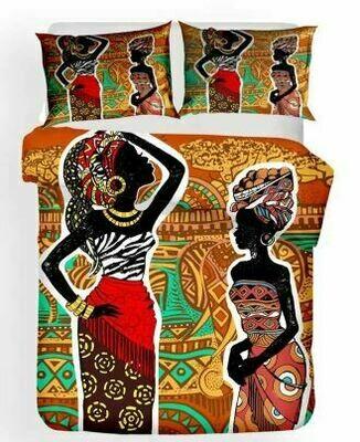 Afrocentric Duvet Cover Set (Design 19)