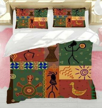 Afrocentric Duvet Cover Set (Design 7)
