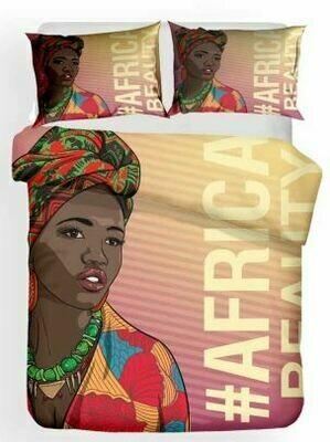 Afrocentric Duvet Cover Set (Design 9)