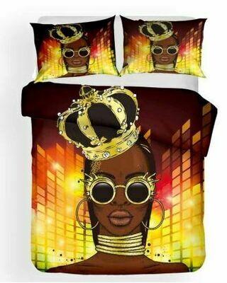 Afrocentric Duvet Cover Set (Design 10)