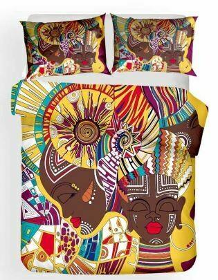 Afrocentric Duvet Cover Set (Design 11)