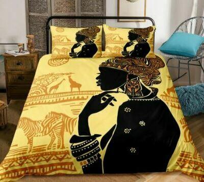 Afrocentric Duvet Cover Set (Design 25)