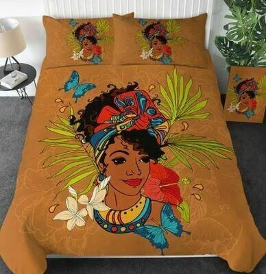 Afrocentric Duvet Cover Set (Design 33)