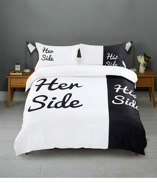 Her And His Couple Duvet Cover Set