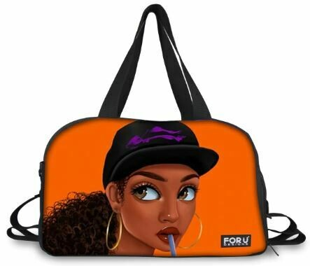BlackArt Duffel Bag (Design #12)