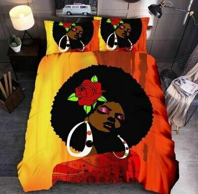 Afrocentric Duvet Cover Set (Design 14)