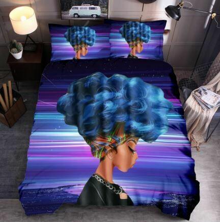 Afrocentric Duvet Cover Set (Design 27)