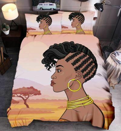 Afrocentric Duvet Cover Set (Design 36)