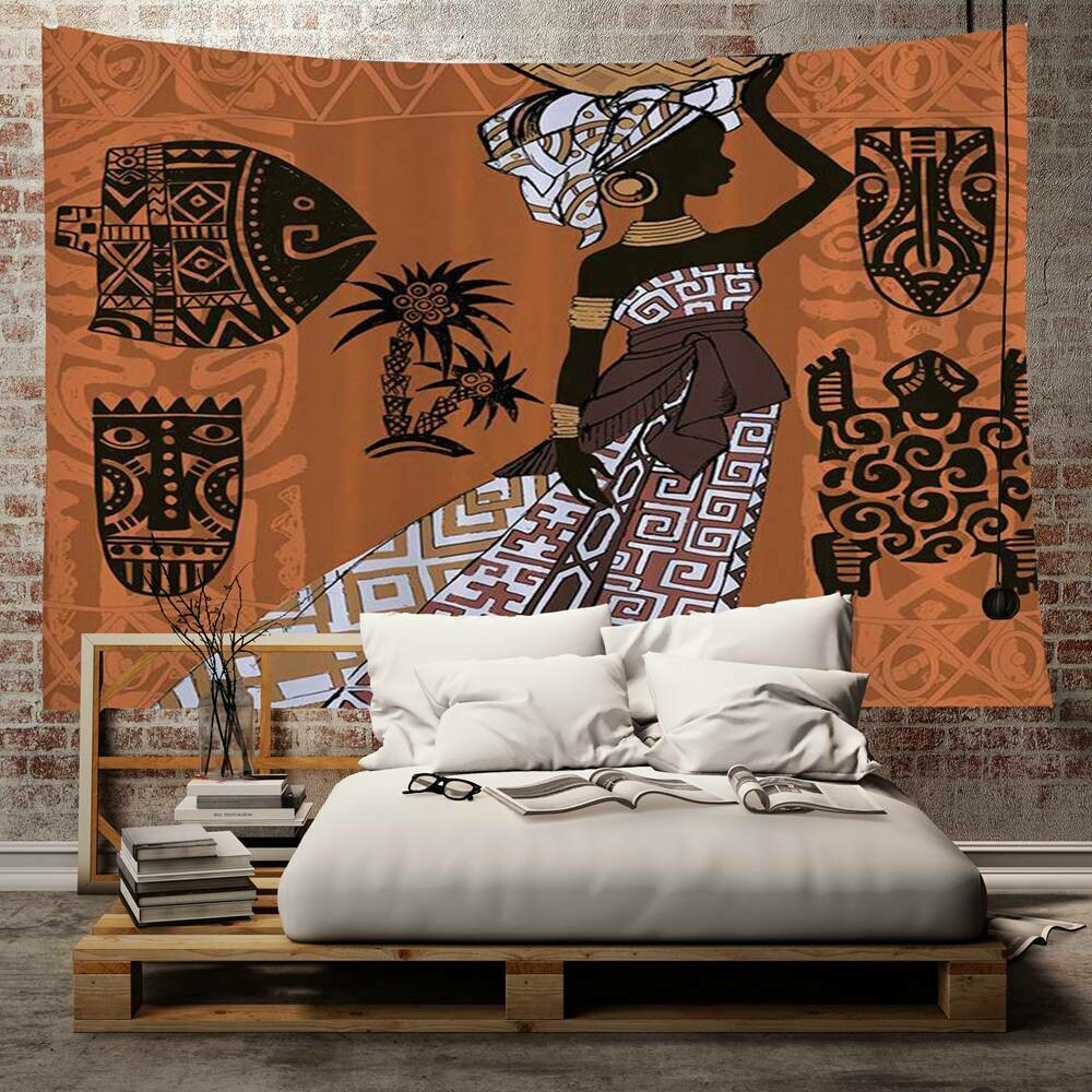 Afrocentric Wall Tapestry (Design #8)