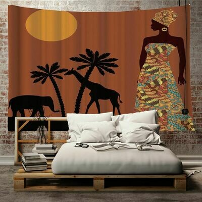 Afrocentric Wall Tapestry (Design #12)
