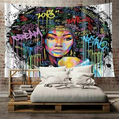 Afrocentric Wall Tapestry (Design #13)