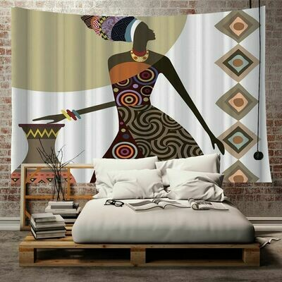 Afrocentric Wall Tapestry (Design #11)