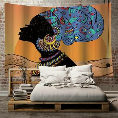 Headwrap in the Sun Tapestry