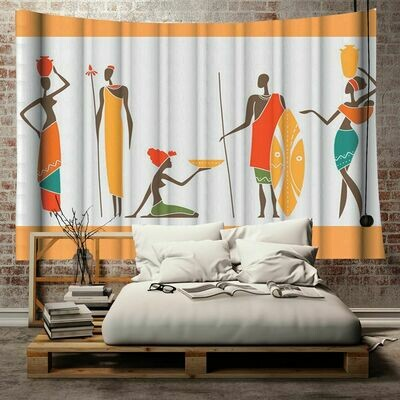 Afrocentric Wall Tapestry (Design #28)