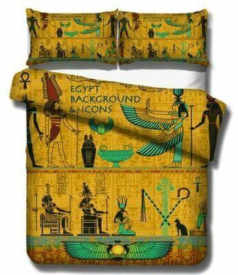 Egyptian Duvet Cover Set (Design 11)