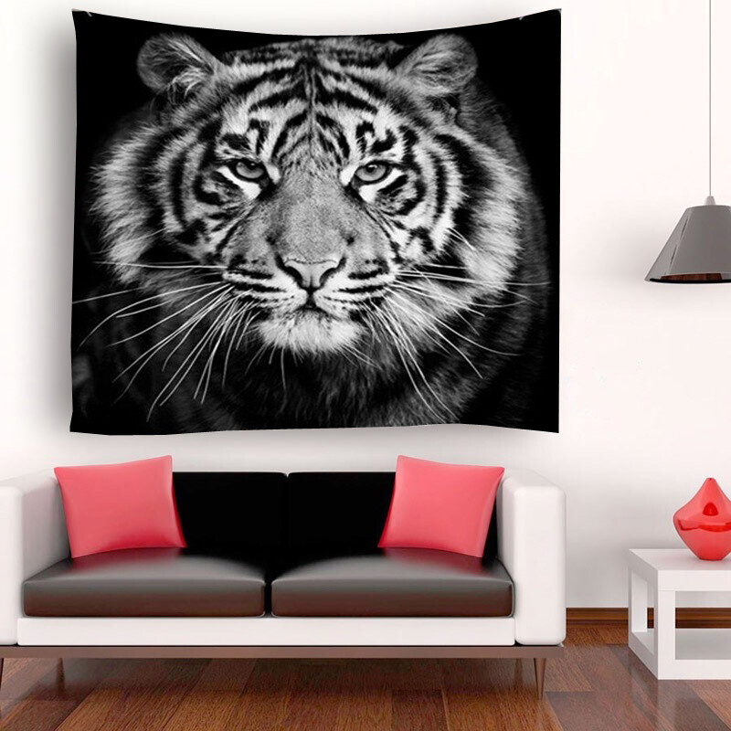 Retro Tiger Tapestry