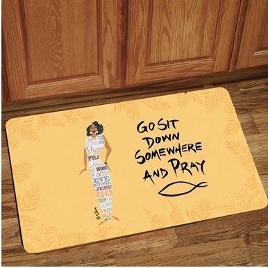 Interior Floor Mat (Go Sit Down Somewhere & Pray)