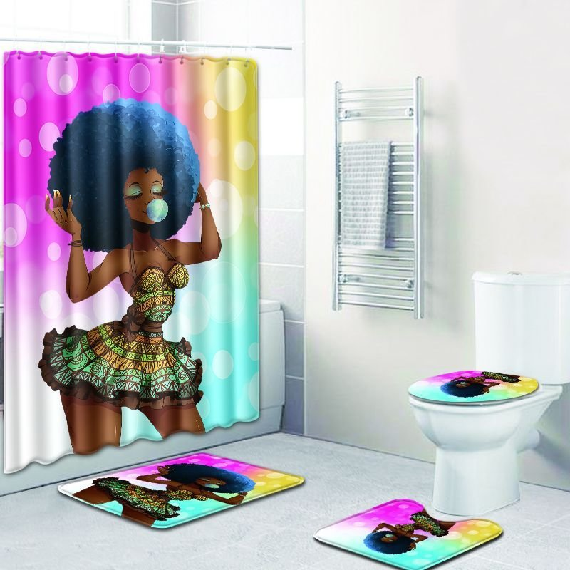 Blue Black Girl Magic Delight 4-Piece Bath Set