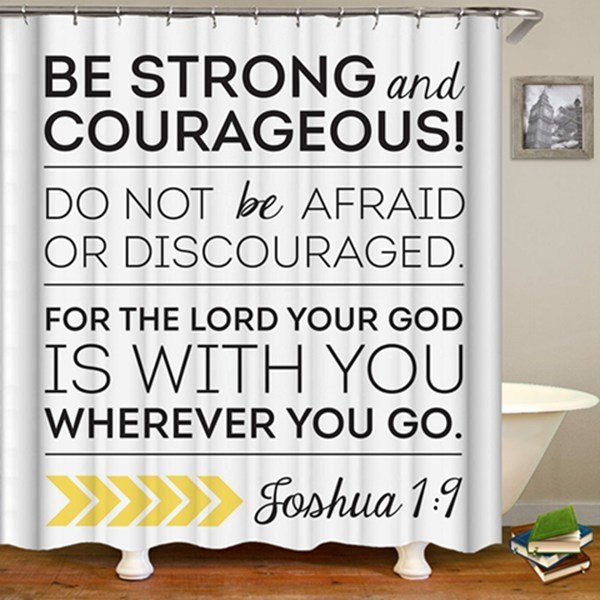Shower Set (Be Strong & Courageous)