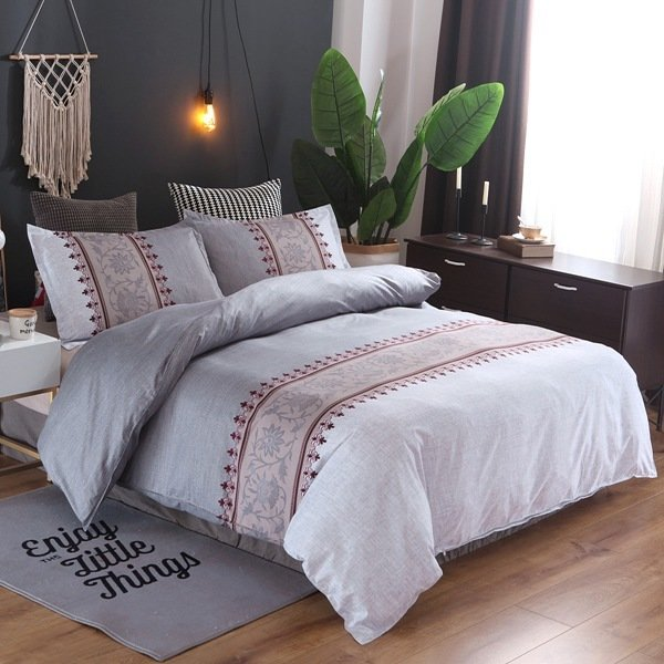 Light Grey  Lily of the Valley Duvet Cover Set