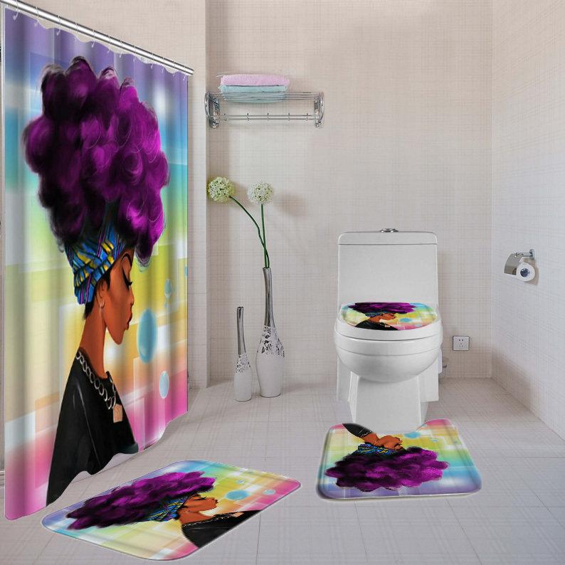Purple-Liscious 4-piece  Bath Set