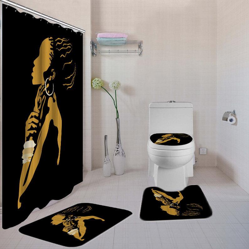 Black Beauty 4-piece  Bath Set