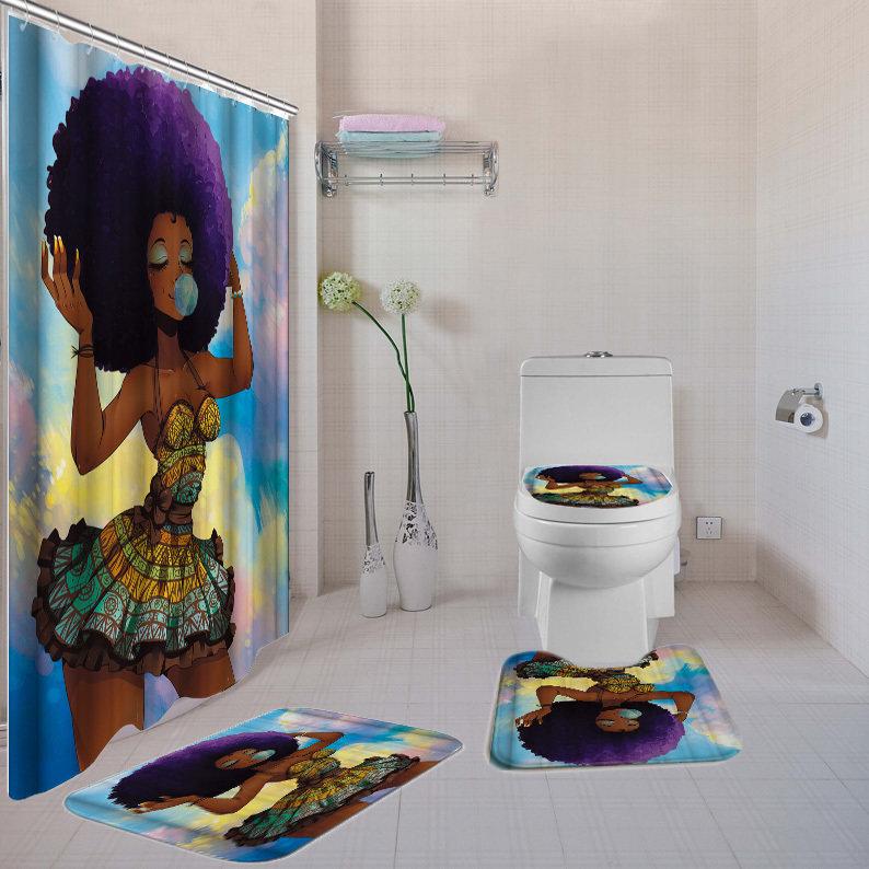 Purple Black Girl Magic 4-piece  Bath Set
