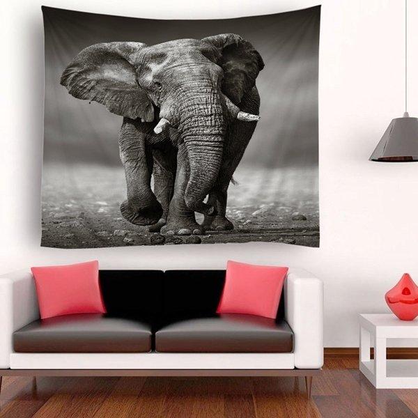 Retro Elephant Tapestry