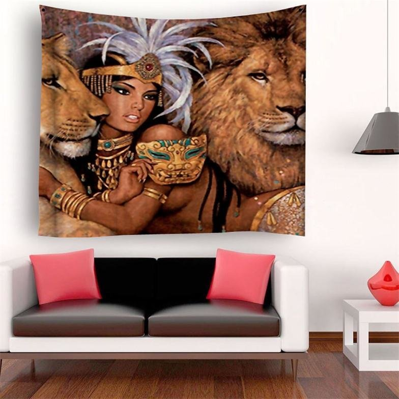 Lioness Tapestry