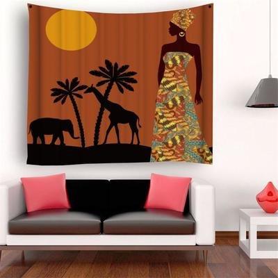 Safari Woman Tapestry